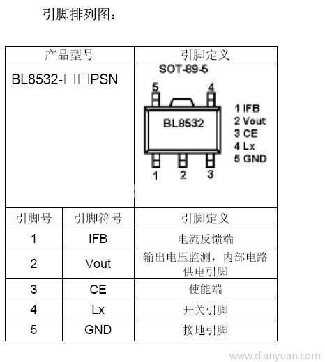 bl8532 电路采用了高性能的参考电压电路结构