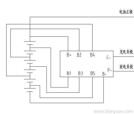 供应3-6串锂离子电池保护板…;; 6串锂电池保护电路; 锂离子电池线路