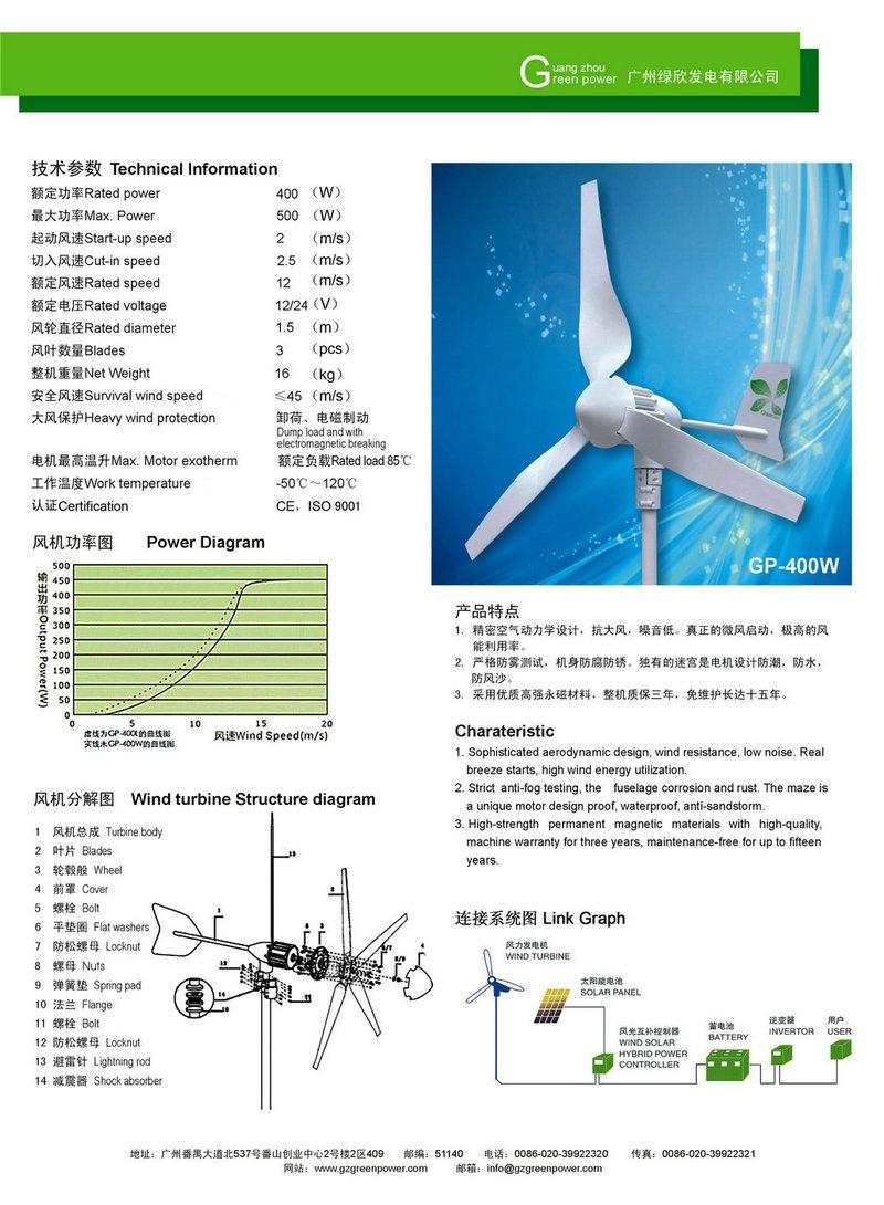 风能发电机价格_家用小型风力发电机,小型400w水平五叶风力发电机_厂家_价格 ...