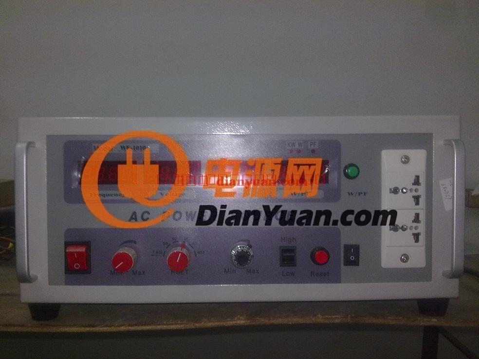 [产品介绍]: 晶体管放大式变频电源 产品特点  纯净电源输出: 110V/220V双重电力转换,提供纯净可靠的正弦波(Sine Wave)输出。是研发和实验室的最佳源,EMI/EMC等安规测试的标准电源。  稳定性优: 输出负载电压1%,输出频率0.01%。其输出频率是由石英晶体振荡器产生,拥有非常稳定、精确的频率输出。  高效率IGBT模组: 节能高效,采用绝缘栅极晶体管(IGBT)模组,能推动大功率输出,提升品质稳定度,减少电力损耗及干扰;  直接选择输出频率档: 47~63Hz、5