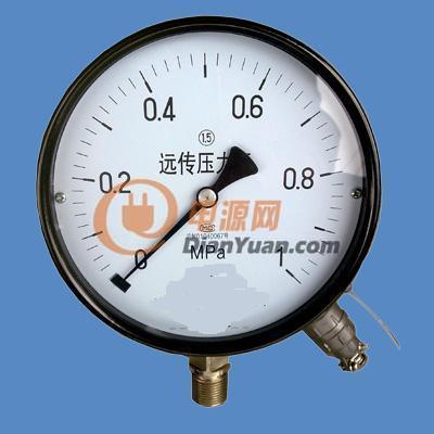 电阻远传压力表结构原理    仪表由一个弹簧管压力表和一个滑线
