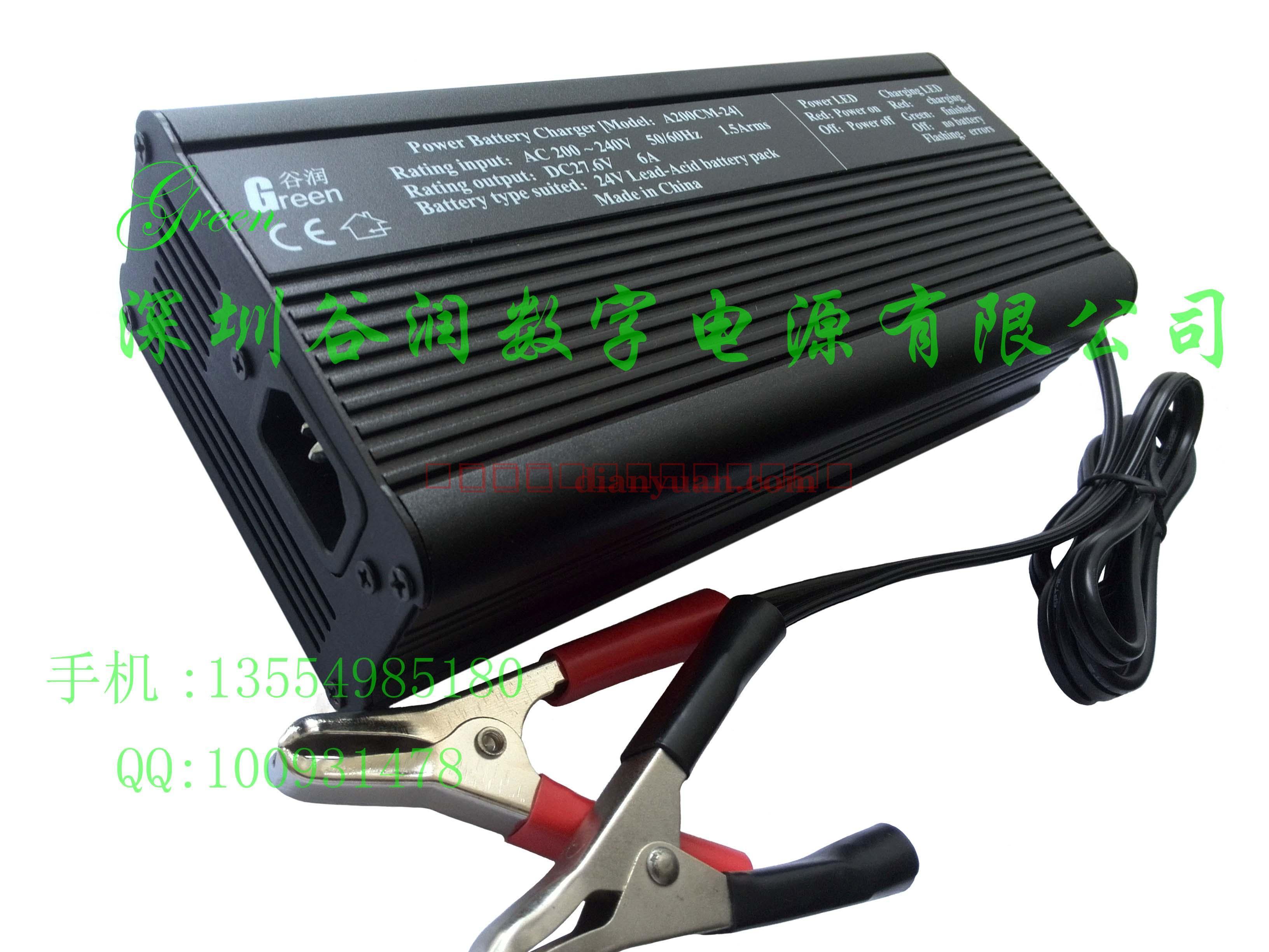 使用方法: 1. 将红色鳄鱼夹夹在电池的正极端子,黑色接负极。也可用其他附件端子将充电器的输出线与电池正负极正确连接。 2.当交流市电接通时,若此时无电池接入,则只有电源灯Power常亮,其他指示灯均不亮;当电池接入正确时,充电进行中为红色常量。当 电池接入错误或输出端子短路时,红色指示灯会快速闪亮。 3.
