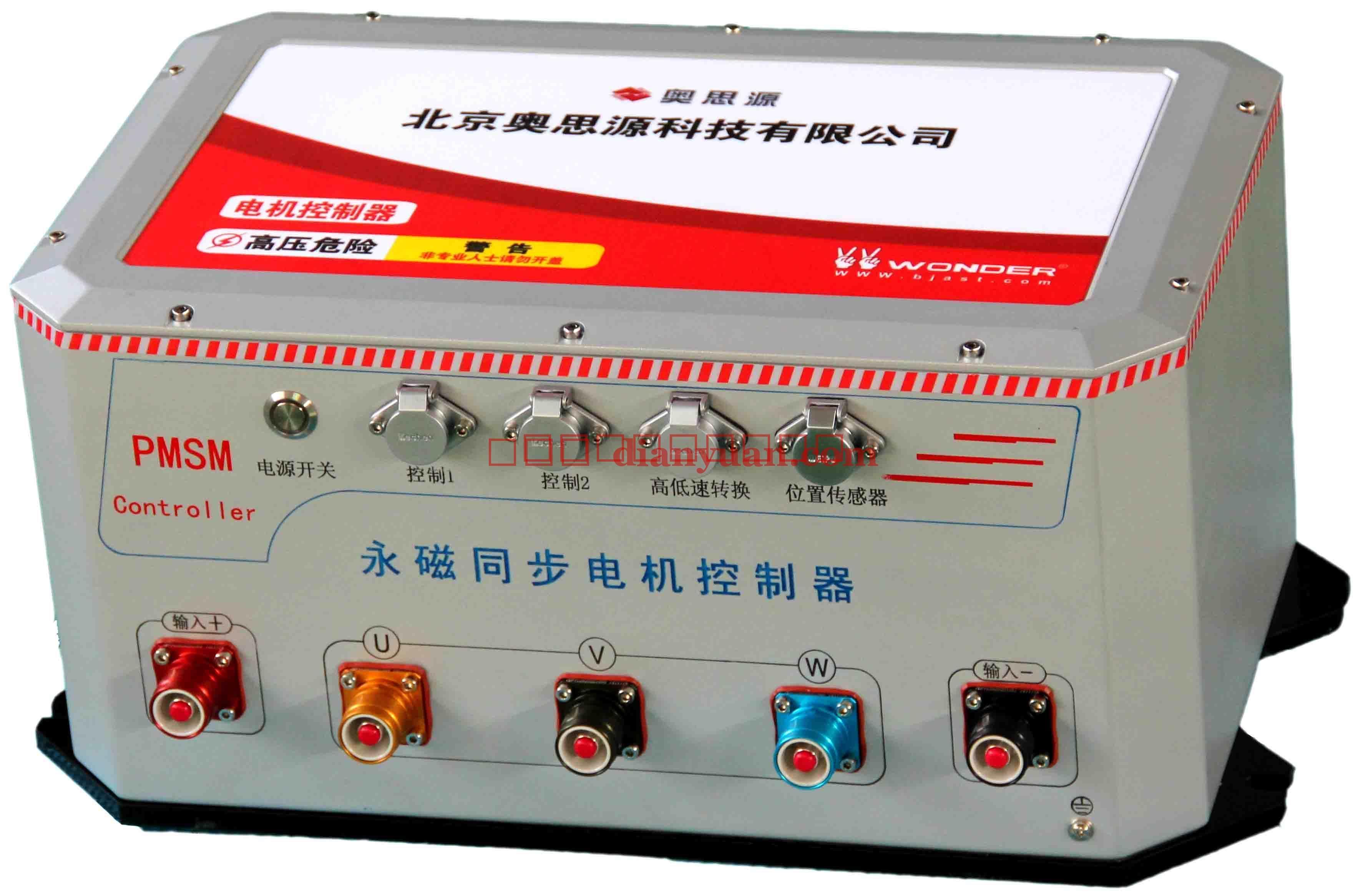 [产品介绍]: 该调速控制器可以用于电动大巴,电动轿车,混合动力车 不但具有调速功能,而且有能量回收功能,可以延长续时里程 可以根据用户的需求单独设计和制作 我公司生产的ASY系列直流电机调速器,电动车调速控制器( 3KW-300KW ),采用新型IGBT为主攻率开关器件,主电路采用三相高频斩波电路,使得电源具有可靠性高、稳定性好、体积小、重量轻等优点。另外,整机设计时,充分考虑了机器的使用环境,做到防潮,防水,防尘,抗震,耐高温。除了具有调速功能外,还具有能量回收功能。能量回收是指把车辆的动能通过特有技