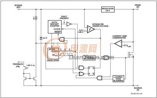 lnk364pn电路图及名脚功能电兀.
